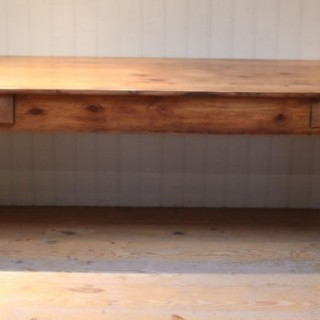 Large French Cherry Wood Farmhouse Table