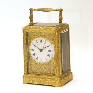 Paul Garnier Carriage clock with Chaff-Cutter Escapement