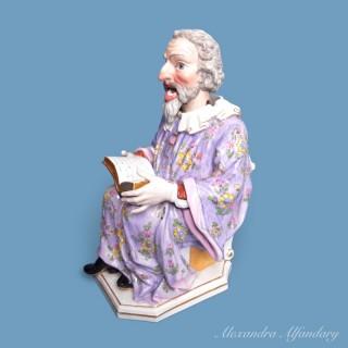 A Rare Meissen Nodding Figure Of A Sage
