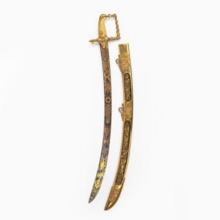The Lloyd's Patriotic Fund £100 Trafalgar Sword awarded to JOHN PILFORD ESQ CAPTAIN OF HMS AJAX, 21st October 1805