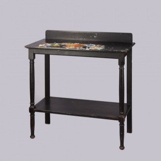 An Ebonised Edwardian Table from the Hastings Studio of John Bratby