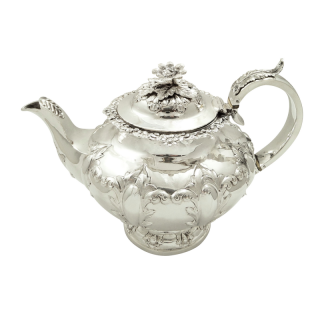 Antique Victorian Sterling Silver Teapot 1855