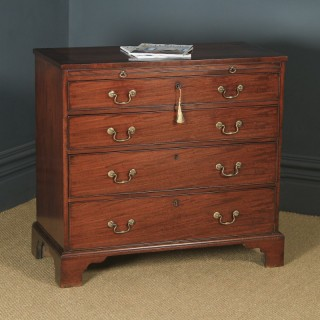 Antique English Georgian Mahogany Chest of Drawers (Circa 1790)