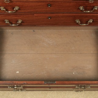 Antique English Georgian Mahogany Chest of Drawers (Circa 1790)