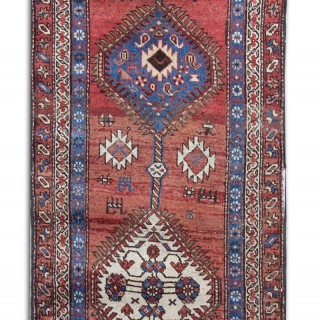 Antique Caucasian Runner Rug 91x236cm
