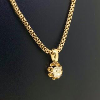 Diamond Pendant and Chain
