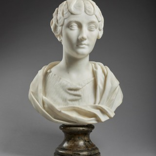 Neoclassical Marble Bust of Faustina the Younger