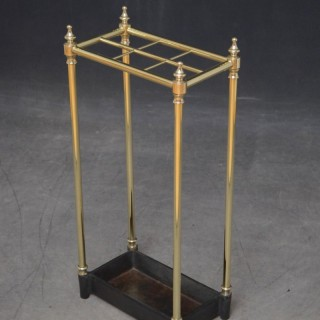 Late Victorian / Edwardian Brass Umbrella Stand