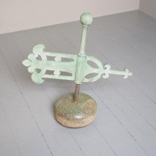 Victorian Scottish Curling Stone With Weather Vane