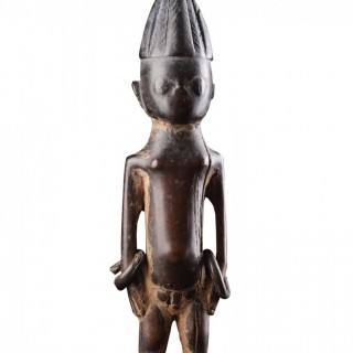 West African Yoruba Carved 'Ere Ibeji' Twin Figure