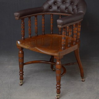 Edwardian Desk Chair in Mahogany