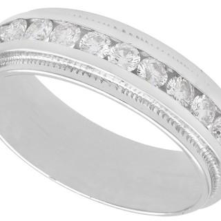 1.10 ct Diamond, 14 ct White Gold Half Eternity Ring - Vintage Circa 1990