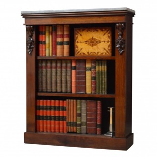 Early Victorian Rosewood Open Bookcase
