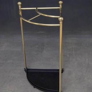 Edwardian Corner Umbrella Stand in Brass
