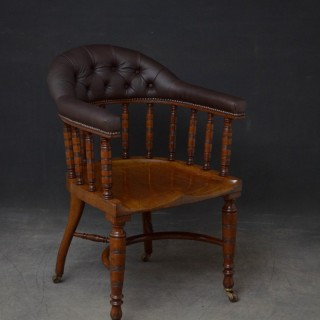 Edwardian Office Chair in Mahogany