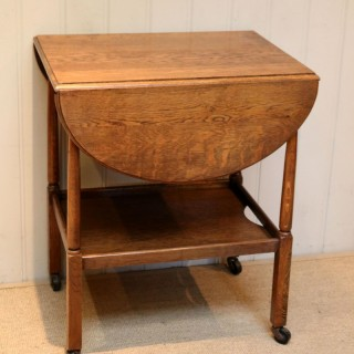 Oak Oval Drop Leaf Trolley