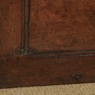 Antique English 18th Century Georgian Oak Joined & Panelled Coffer Chest Blanket Box Trunk (Circa 1720)