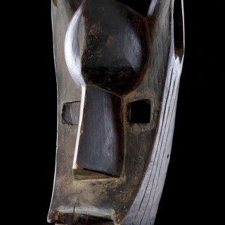 West African Mali Bamana Koré Initiation Mask in the Form of a Hyena 'Surukuw'