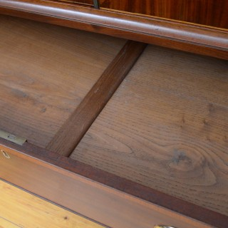 Regency Mahogany and Inlaid Linen Press