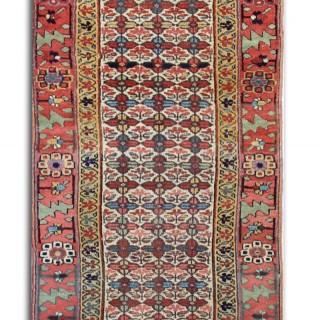 Antique Caucasian, Azerbaijan Runner Rug 80x415cm