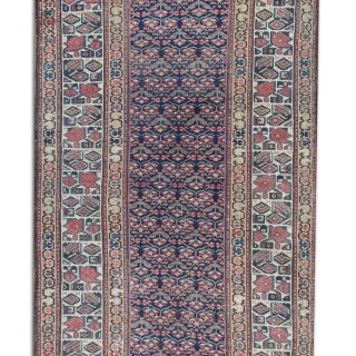 Late 19th Century Persian Bidjar Runner Rug 90x390cm