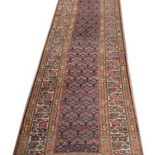 Late 19th Century Persian Bidjar Runner Rug 90x390cm