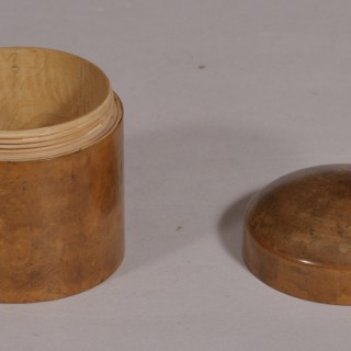 Antique Treen Early 20th Century Boxwood Container