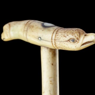 Three Sailor's Scrimshaw Walking Canes