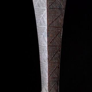 Polynesian Tongan Islands Chiefly Two Handed Ironwood War Club 'Apa'Apai'