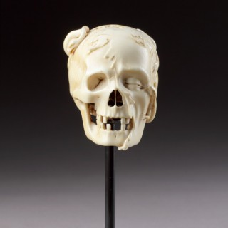 An Exceptional German Carved Ivory Vanitas