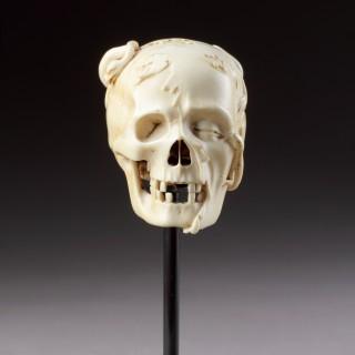 An Exceptional German Carved Ivory Vanitas