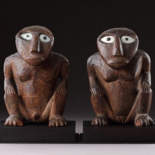 Rare Pair of Micronesian Caroline Islands Mortlock Islands Idols
