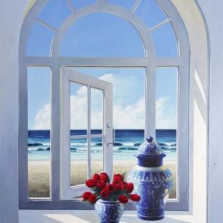 Window with Tulips