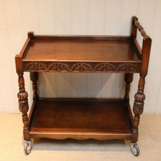 Carved Oak Trolley