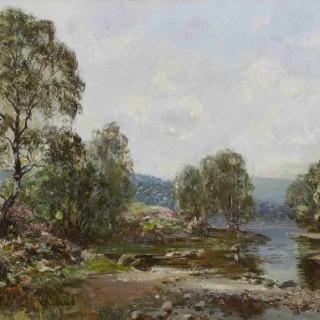 'The Narrows, Loch Ard' by Scottish artist Walter McAdam (1866-1935)