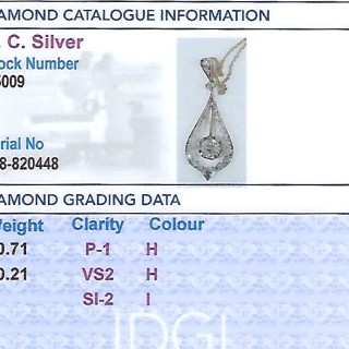 0.92 ct Diamond 18ct Yellow Gold and 18 ct White Gold Set Pendant - Antique Circa 1910