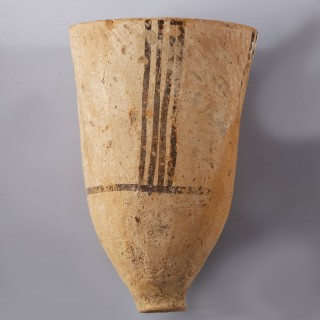 Harappan Elongated Cup with Linear Decoration