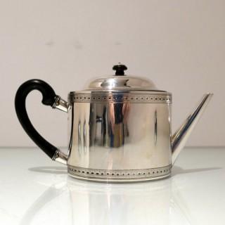 18th Century Swiss Silver Teapot Lausanne Circa 1770 Elie Papus & Pierre Henri Dautun
