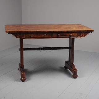 Scottish Regency Rosewood Sofa Table in the Manner of W. Trotter