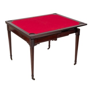 Antique Victorian Mahogany Games Card Roulette Table 19th C