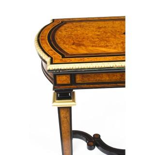 Antique Amboyna & Ebonised Card Table C1850 19th Century