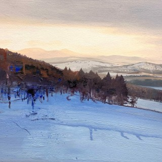 'Winter Sun on the Queen's View, Tarland' by Scottish artist Chris Bushe