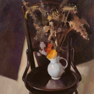 'The Bentwood Chair' by  Scottish artist Norman Edgar RGI