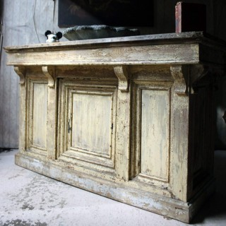 A Victorian Painted Pine Shop Counter c.1870-80