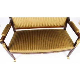 Antique French Empire Ormolu Mounted Sofa Settee C1880 19th C