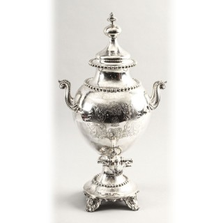 Antique English Victorian Silver Plated Samovar c.1860