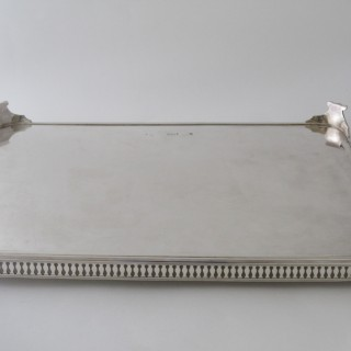 Antique Edwardian Silver Plated Gallery Tray