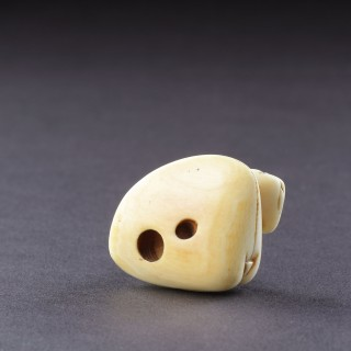 A Japanese Ivory Netsuke of an Attractive Shell Group of Three Venus Clams