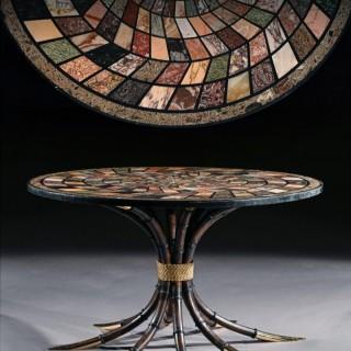 Large Italian 19th Century Specimen Marble Top Centre Table