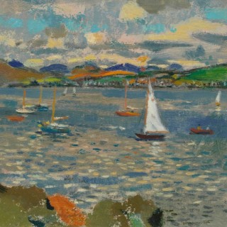 'Yachts, Gourock' by Alexander Galt (1913-2000)